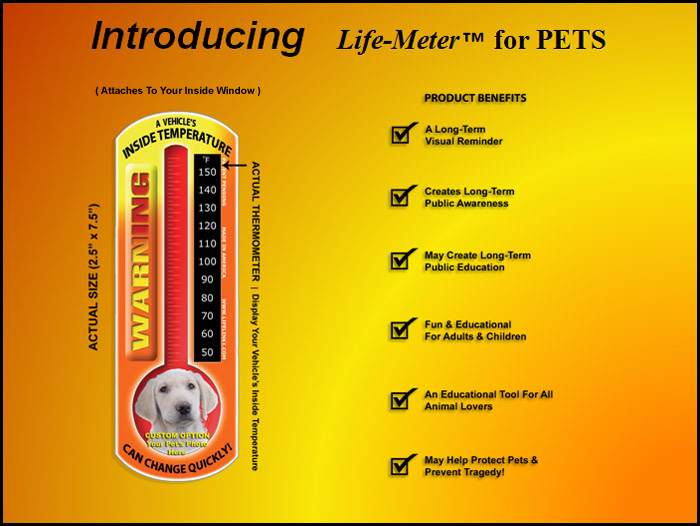 INTRODUCING LIFE-METER FOR PETS