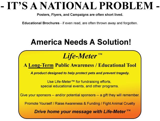 INTRODUCTION TO LIFE-METER FOR PETS